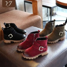 Children's Boot Shoes Supplier warm cheap new model child wear winter leather boot
