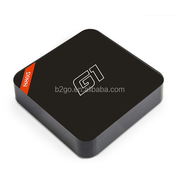 free samples with free shipping G1 android tv box amlogic s805 quad core the set-top box guangdong