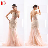 2015 Sexy New Fashion Gorgeous Evening Gown Stylish Appliqued Halter Elegante Vestidos De Noite