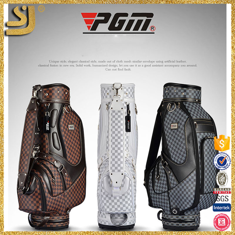 PGM men's check pattern best selling premmium stand golf bag