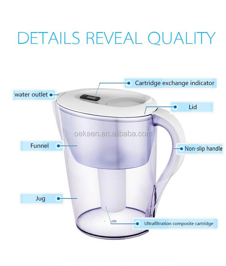 Good Quality 3.5L Household Use Water Filter Pitcher/Jug with UF Filter