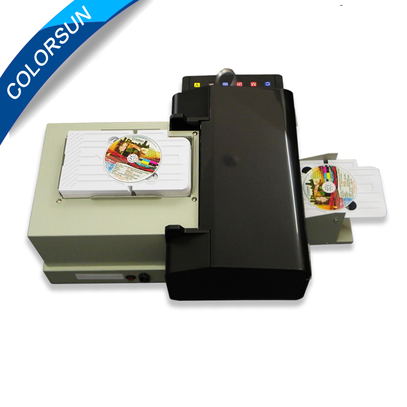 Factory sell lowest price automatic inkjet cd dvd label printer with tray