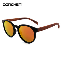 2017 trend fashion rose wood frame eyewear cat 3 polarized italian round wood sunglasses