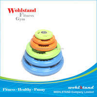 Color Rubber Encased Olympic Plate / Weight Lifting Rubber Plate
