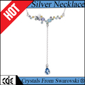 CDE crystals from Swarovski factory bulk wholesale 2017 fashion jewellery colourful crystal long pendant necklace
