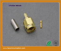 high quality crimp RP-SMA Male vga rf connector For RG316 Cable