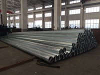 hot dip galvanized street light steel poles