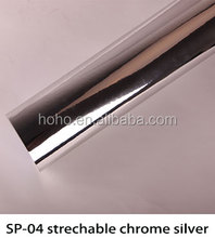 Vinyl Filim for Car Decoration Film 1.52*20m PVC Material Stretchable Chrome Mirror Silver Car Wrap Vinyl