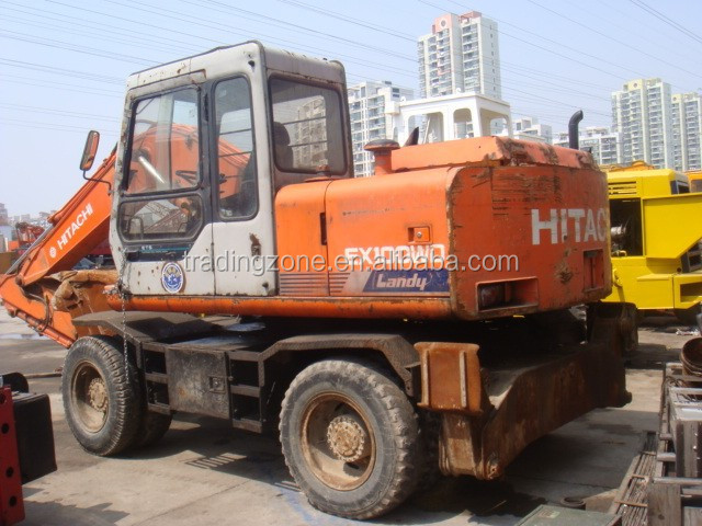 used HITACHI EX100WD wheel excavator original from Japan