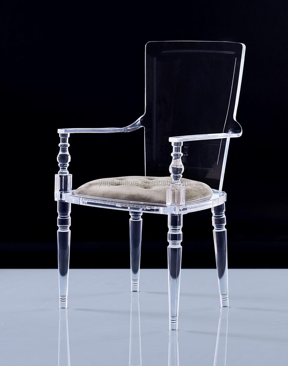New design acrylic chair with armless for dining room , wedding