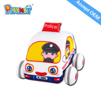 Plush baby soft police toy car