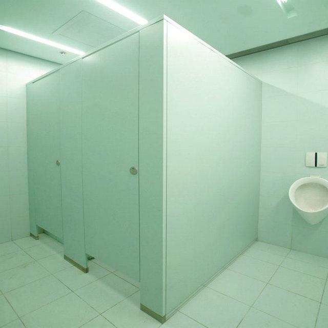 cheap compact HPL public toilet cubicle partition