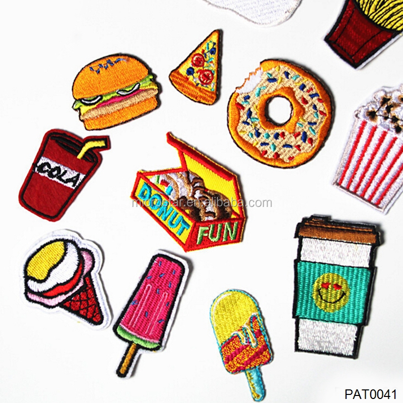 Fashion DIY Cola Custom Clothing Food Patch Embroidery Iron Patch