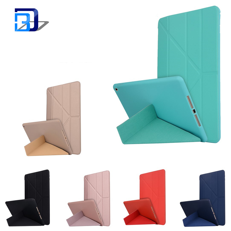 9.7 inch solid color flip case all-inclusive soft tpu silicone tablet case for iPad 9.7/Pro 9.7 2017 New