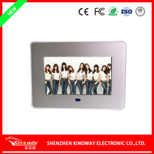 KINOWAY Custom 7 inch metal drawing digital frame LCD/LED video display frame with CE/ROHS/FCC