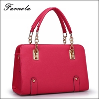 2015 Fashion Korean Style Christmas 100% genuine leather hand bag lady china wholesale handbag
