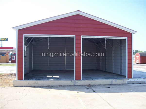 Low cost metal steel shed garage with high quality view for Garage low cost