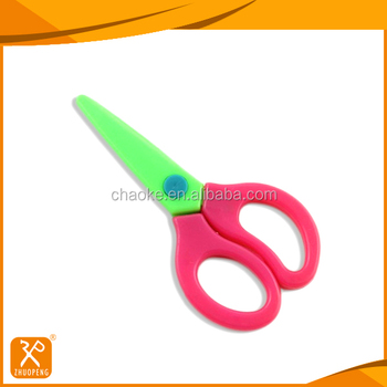 High quality special safety plastic handle school student craft scissors