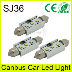 For honda city 36mm led festoon light t10 socket led canbus bulb made in China