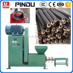 Recycling wood peanut shells corn cob charcoal briquette making machine low price