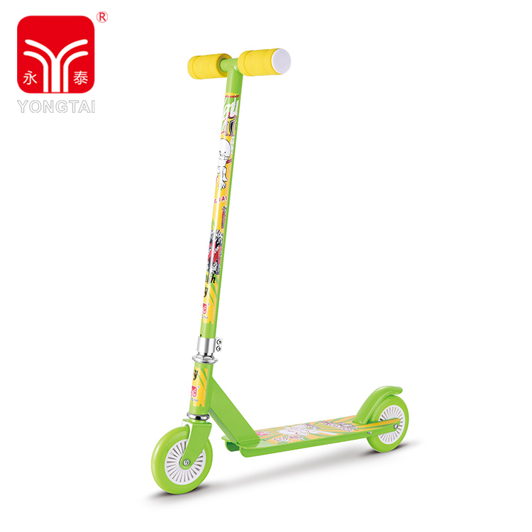 Fashionable High Quality Kids 2 Wheels Foldable Scooter, Kick Foot Scooter With Foam Handle