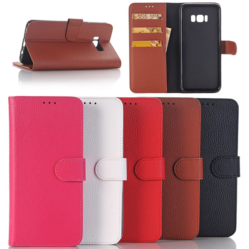 Litchi Pattern Leather Wallet Case for Samsung S8 Plus,for Samsung S8 Plus With Card Slots