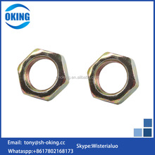 Brass material m20 m22 Thin hex nut m8 din934