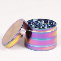 High Quality 4 Part Herb Spice Grinder - Rainbow zinc alloy herb grinder
