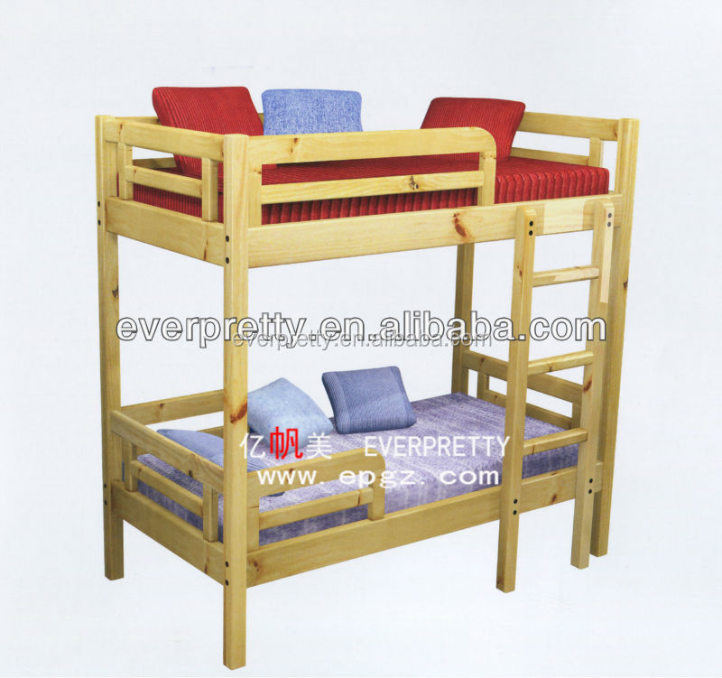 Cheap solid wood furniture, wooden bunk kids bed