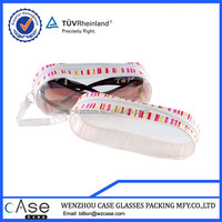 soft PVC cases for sunglasses with zipper