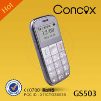 Large button and multi-language gps tracker mobile phone with big battery Concox GS503.