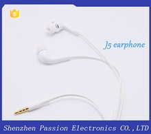 Genuine original Low price earphone 3.5mm headset earbuds J5 earphone with Mic for samsung galaxy S4 S5 J5
