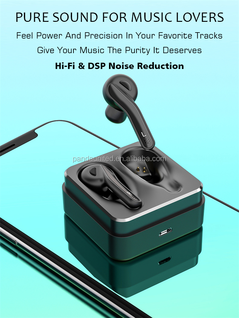 New Product 2019 Upgrade BT 5.0 TWS Wireless Stereo Earphone /Earbuds/ Headset /Headphone for sports