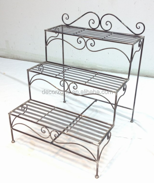 3 Tier Indoor Metal Iron Ladder Plant Stands