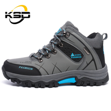 KSD Non-slip Outdoor Hiking Shoes Men Ankle Boot Waterproof Climbing Shoe
