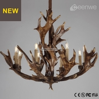 Antique deer antler chandelier for home decoration