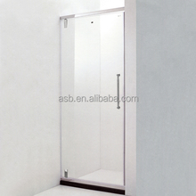 simple pull handle 8mm Tempered Glass plastic portable toilet cabin