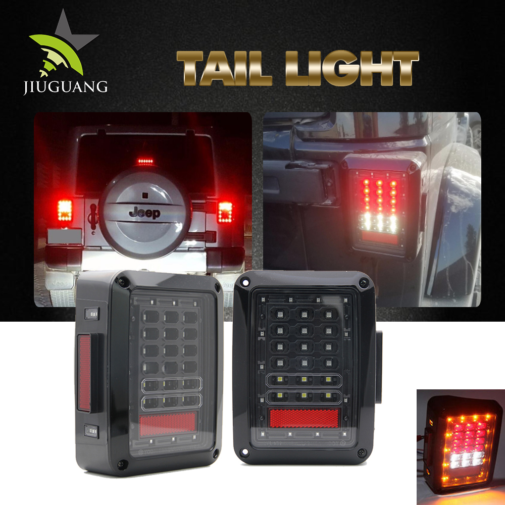 Reliable quality square ce rohs 24w wrangler jeep led tail light headlight