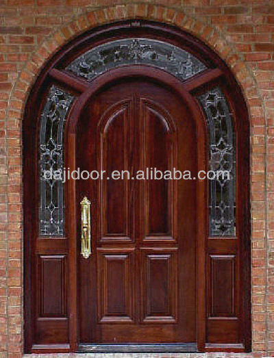 Double Glazed Round Top Entry Doors Design DJ-S6002M-8