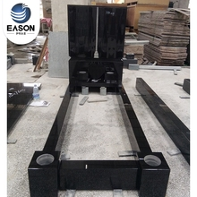 Professional Factory Black Upright Granite Headstone