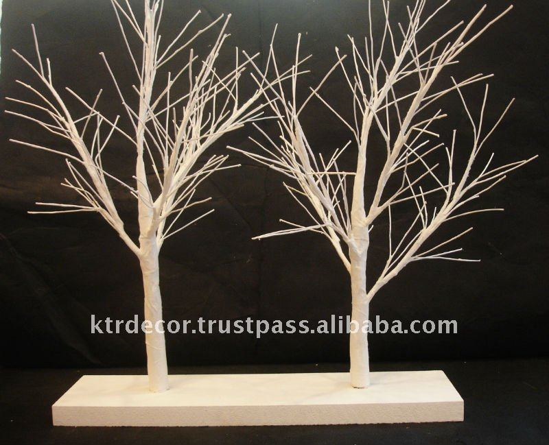 Paper Mache Trees on shelf