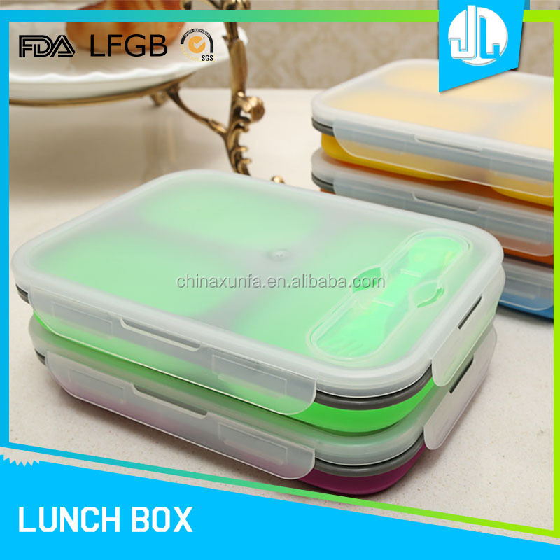 Office school cheap microwaveable foldable food containers