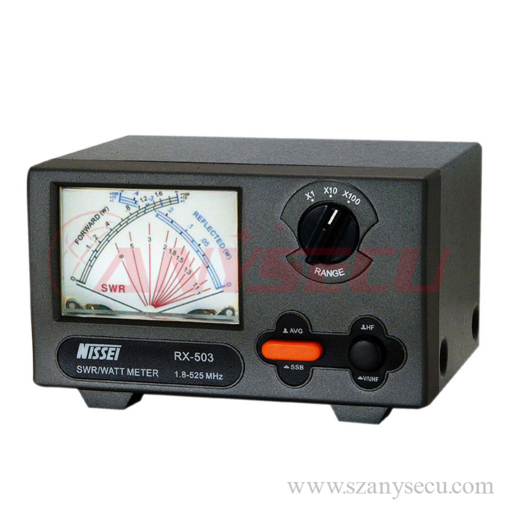 2016 New Launch NISSEI RX-503 SWR/Watt Meter 1.8-525MHz 2/20/200W for Walkie talkie