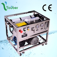 Fishing boats, yachts, islands drinking water use portable and mobile seawater RO desalination machine
