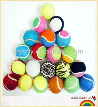 colourful pet carrier tennis ball