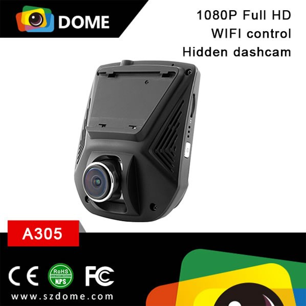 Hot sell 1080P hidden dashcam with WIFI ios/Android system car black box Novatek96658 CPU 2.45 inch LCD dash camera