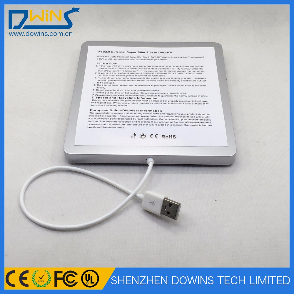 Portable Slot-in USB2.0 External Multi-bluray reader DVD RW 4X BD ROM CA10N