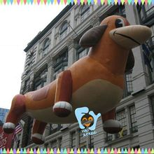Funny inflatable dachshund