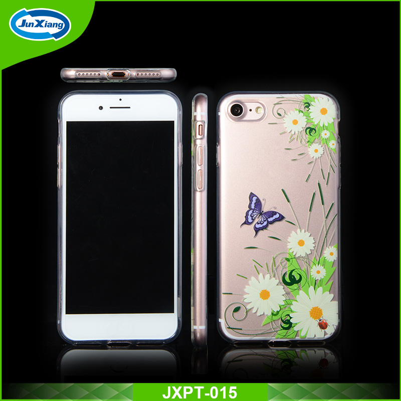 New custom picture logo clear crystal TPU mobile phone case for iphone 6 6s
