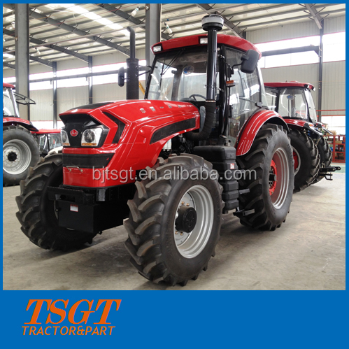 180hp 4wd farm wheel tractor lower price model 2 rear wheels with luxuy cabin and 16+16 shuttle shift
